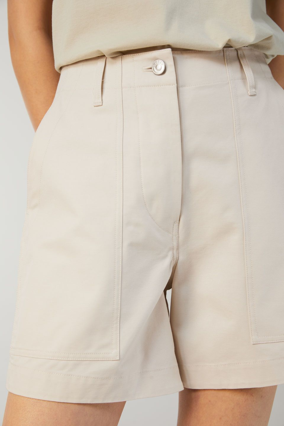Twill Trousers Shorts In 2019 Workwear Arket Cotton Es Beige 35RLAScjq4