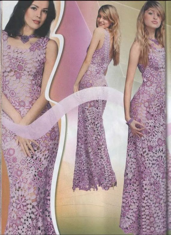 Special Duplet Irish Lace 3 Crochet Patterns Magazine Womens Dress