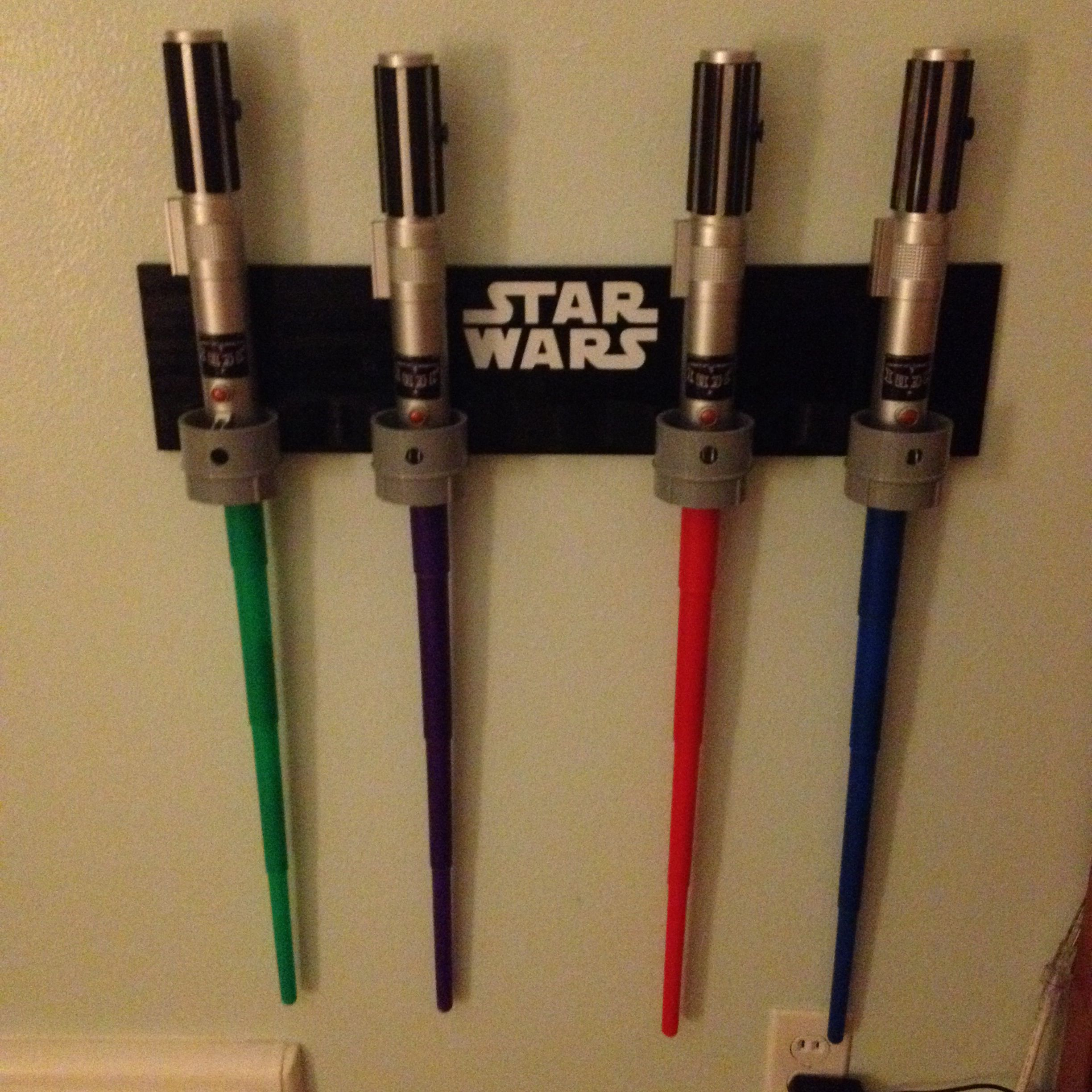 Star Wars Light Saber Holder: Made With Molding And Pipes