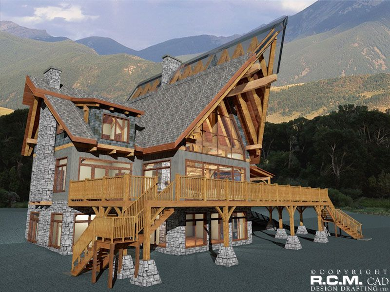 2278 sq. ft - Harrison Timber Frame RCM CAD DESIGN DRAFTING LTD is an architectural design firm primarily specializing in log and timber construction projects.