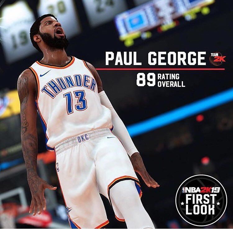 Paul Georges rating in NBA 2K19 - - Thoughts   Comment down - -  nba  usa   washington  lebronjames  lakers  goldenstatewarriors  basketball   kobebryant ... 58e9fd912