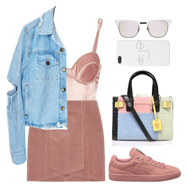 """""""Caroline"""" by mikaylaperrine ❤ liked on Polyvore featuring Fleur du Mal, Kurt Geiger and Westward Leaning"""
