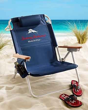 Tommy Bahama - Navy Deluxe Backpack Beach Chair Very Cool Stuff - sillas de playa