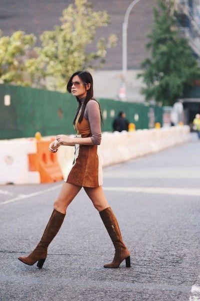 70s Suede | Vintage suede dress