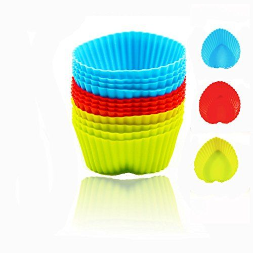 Silicone Baking Cups Defenderx Nonstick Cupcake And Muffin Baking