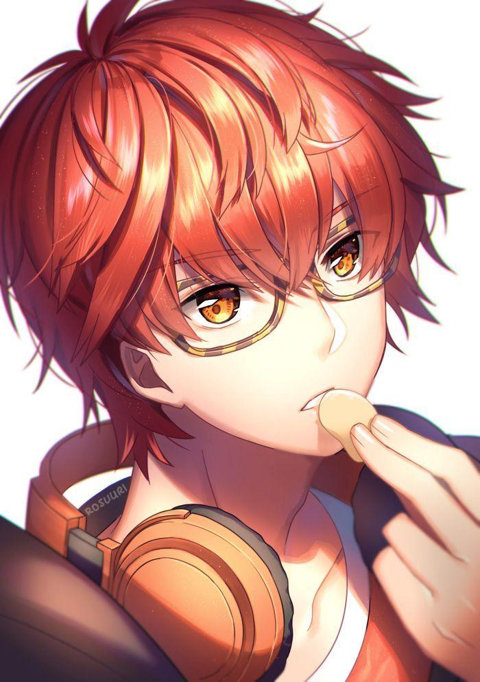 Kartinki Po Zaprosu Orange Hair Anime Guy Mystic Messenger Mystic Messenger 707 Seven Mystic Messenger