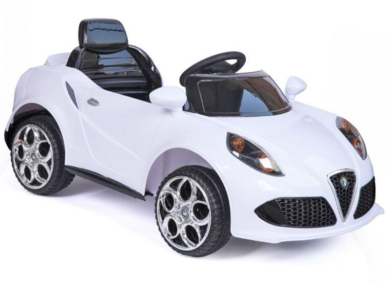 12v Electric Cars Ride On Toys For Kids Uk Motorised In Alfa Romeo Style Car With Radio Control