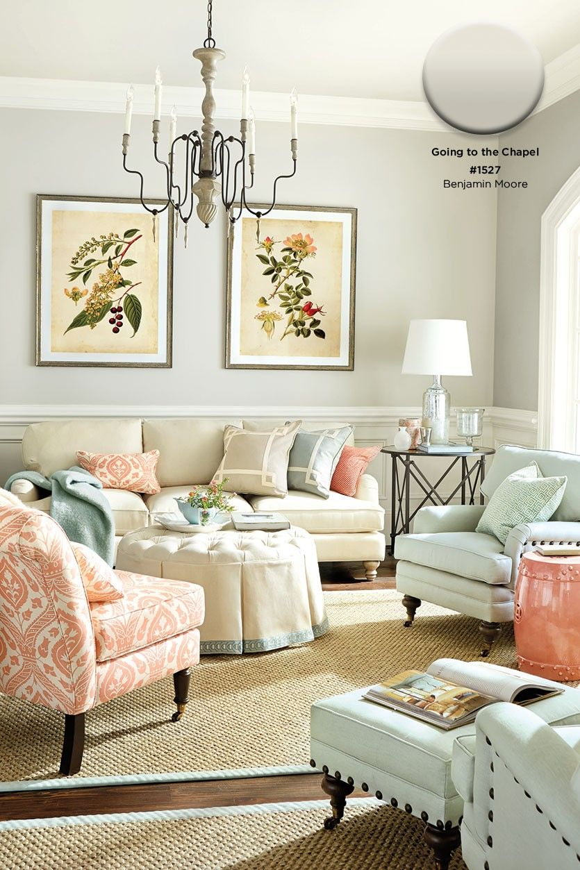 Benjamin Moore's Going to the Chapel paint color - How to pick paint colors for your room