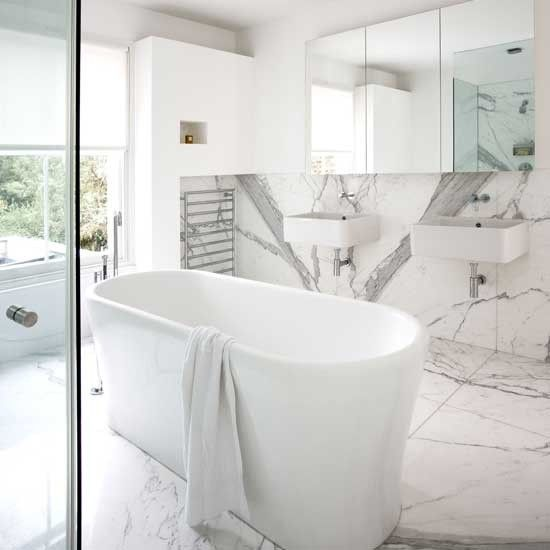Absolute White 15 Decorating Ideas For A White Bathroom Modern Marble Bathroom Marble Bathroom White Marble Bathrooms