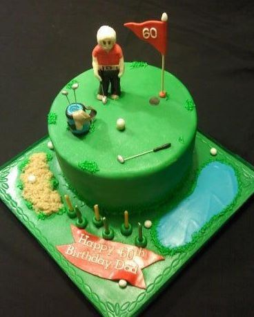 Golf themed 60th birthday cake Property of wwwSaveTheDateCakescom
