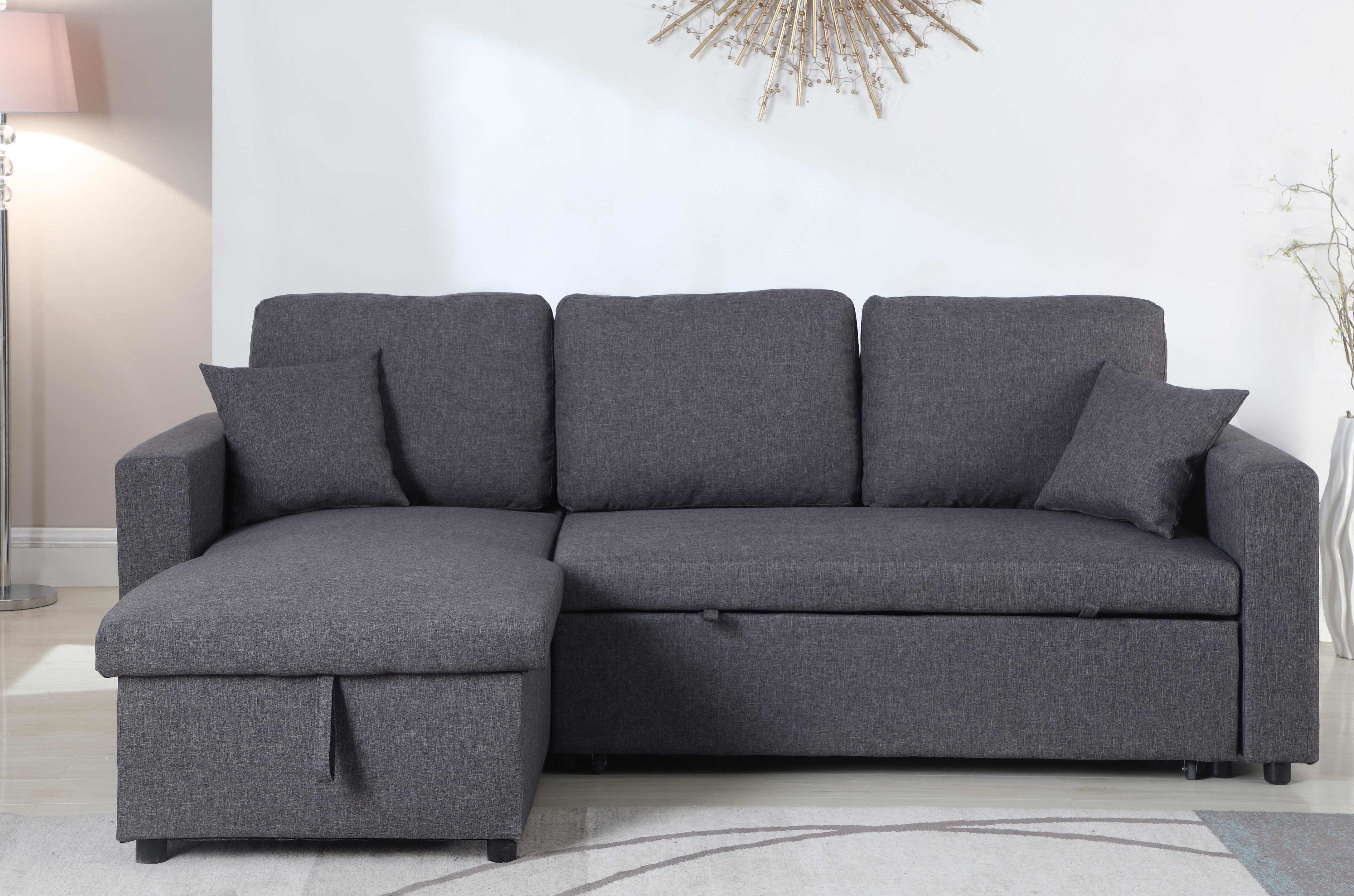 Vernita 87 Reversible Sleeper Sectional With Images Pull Out Bed Sleeper Sectional Sectional Sofa Couch