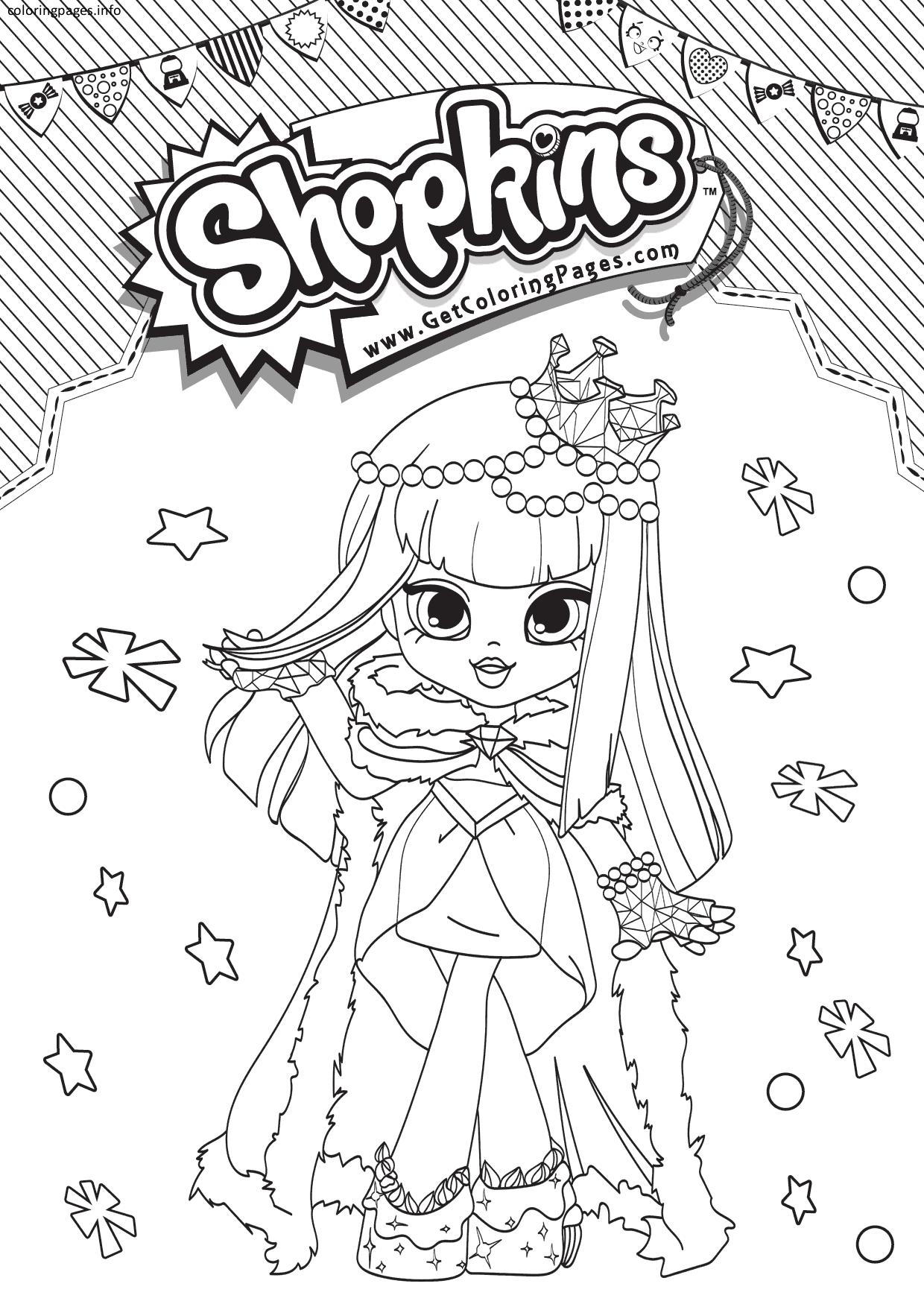 Shopkins Shoppies Coloring Pages Gemma Stone