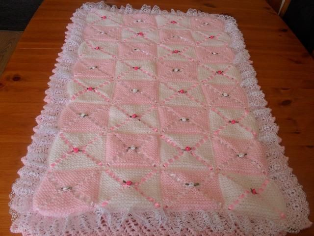 COT BLANKET AND BUMPER via Craftsy | Baby blanket knitting ...
