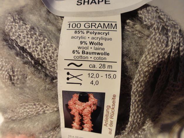 Wolle für Rüschenschal grau | Stricken, häkeln etc | Pinterest ...