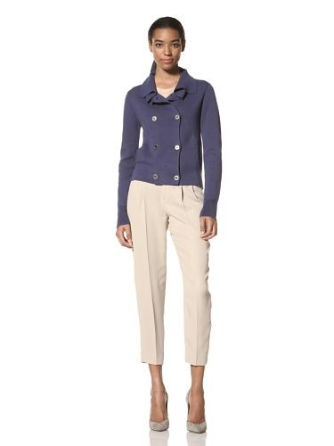 80% OFF Ainsley Women\'s Victoria Cropped Fitted Jacket (Navy)