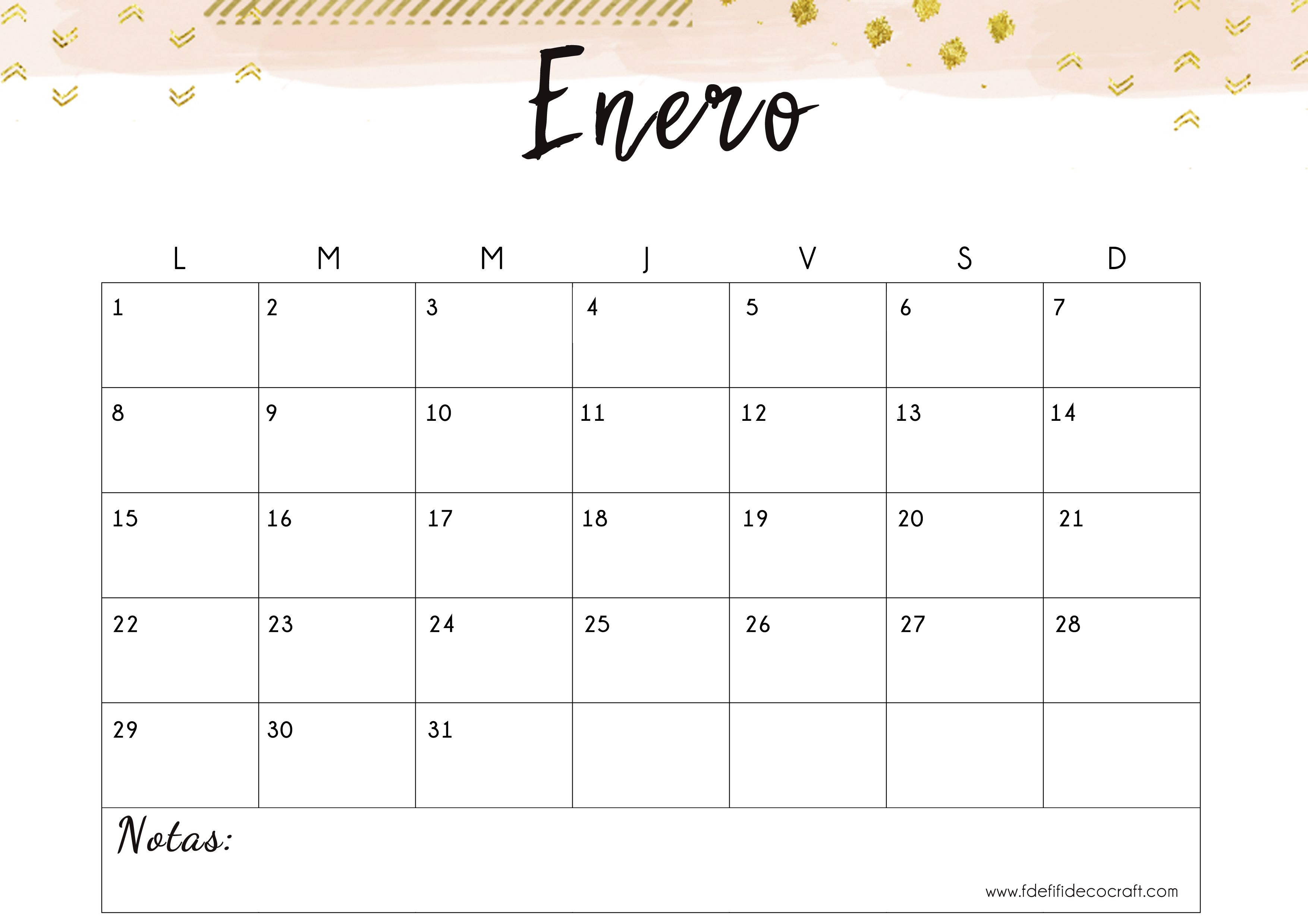 Sorpresa: tu calendario descargable gratuito para 2018 | Imprimibles ...