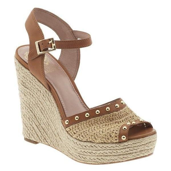 Vince Camuto Halen High Wedge Espadrilles ($35) found on Polyvore