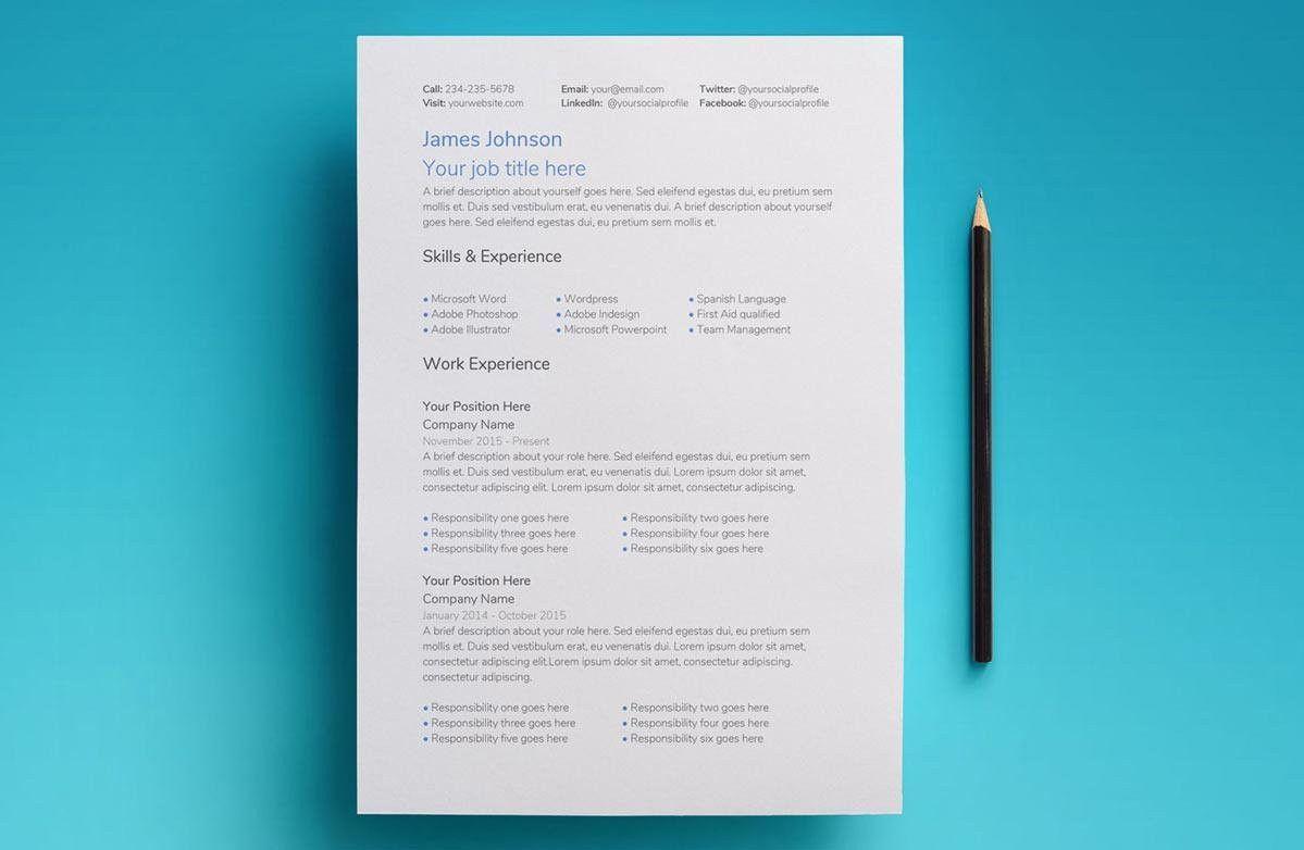 Simple Resume Template Google Docs Perfect Google Docs