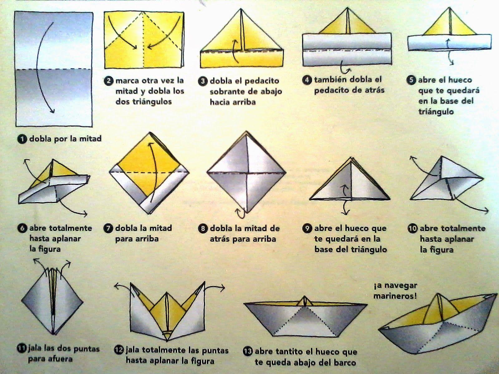 Tutorial para hacer un barco de papel paso a - Papiroflexia paso a paso ...