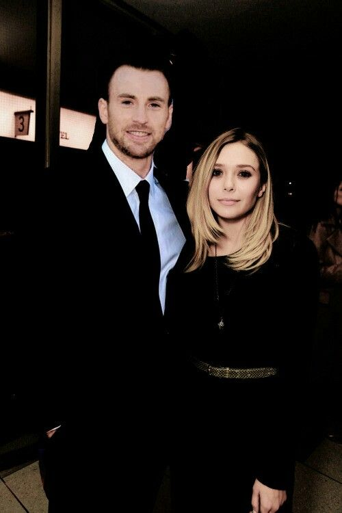 Steve Wanda Chrizzie Chris Evans Elizabeth Olsen Chris Evans Captain America