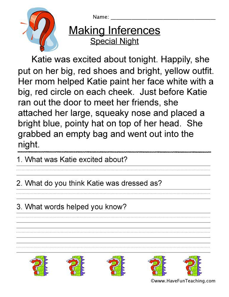 How To Teach Making Inferences Using Making Inferences Special Night Worksheet Students Rea Making Inferences Worksheet Inference Worksheets Making Inferences