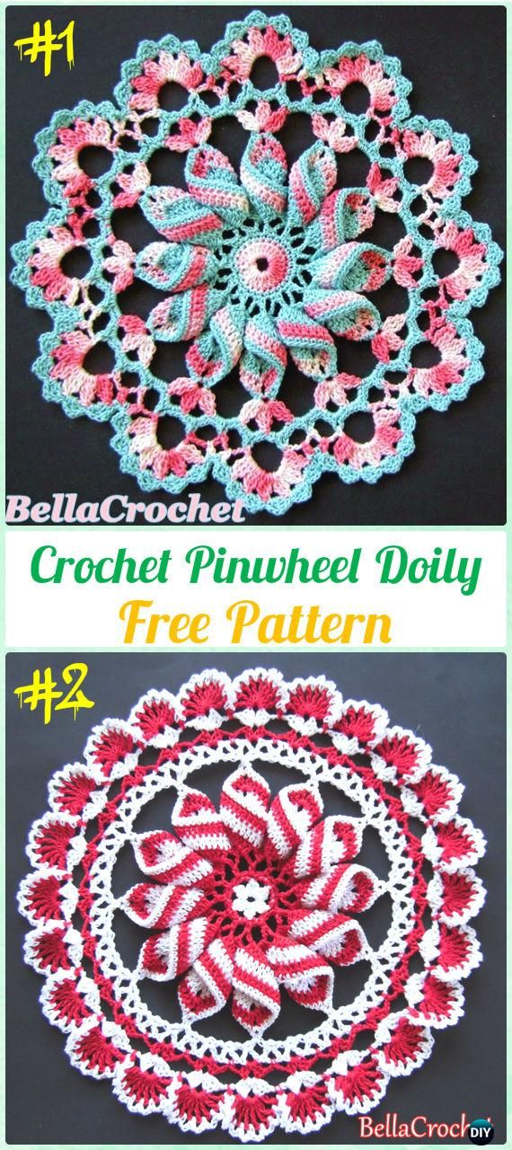 Crochet Doily Free Patterns & Instructions | Ganchillo, Tejido y ...