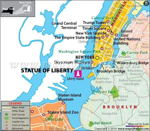 Statue of liberty new york map facts location best time to statue of liberty new york map facts location best time to visit sciox Choice Image