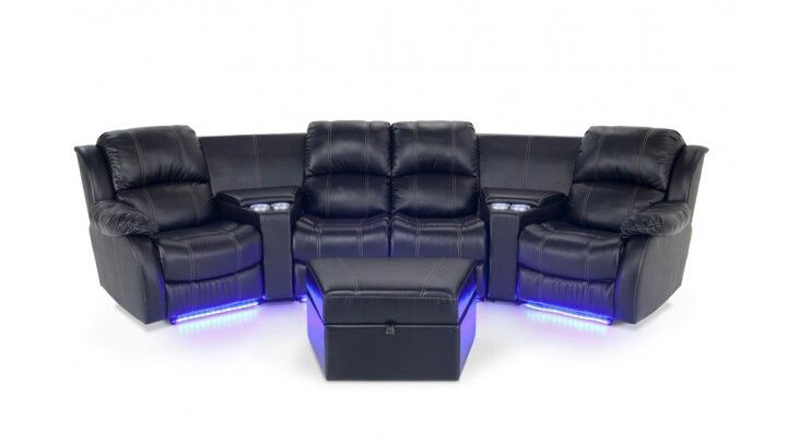 Cineplex Couch With Blue Led Lights Amp Lit Cup Holders In