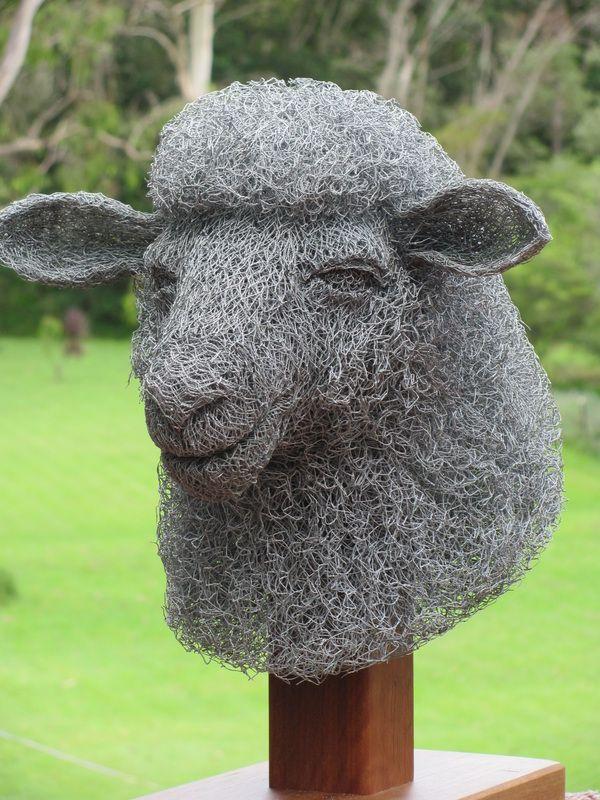 Artist ivan lovatt creates amazing sculpture from chicken for Chicken wire sculptures uk