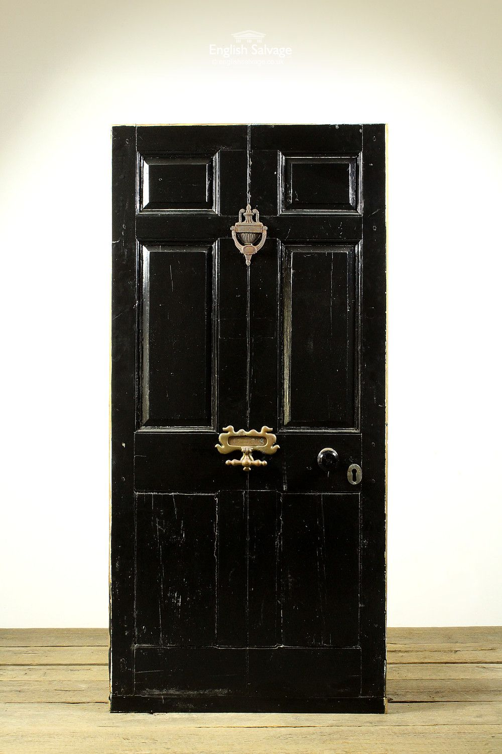 An Unusual External Door The Black Gloss Painted Fro