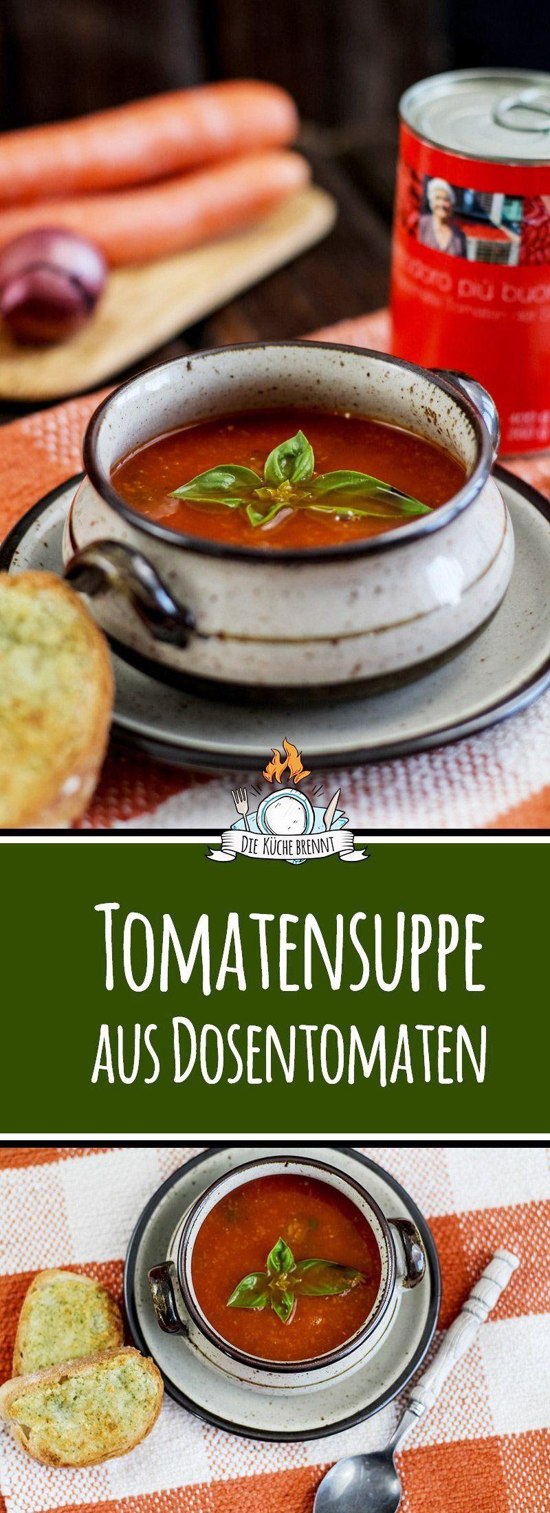 Einfache Tomatensuppe aus Dosentomaten selber machen #atkinsmeals
