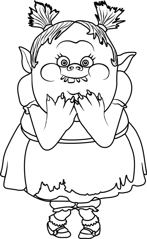 Clean image for trolls printable coloring pages