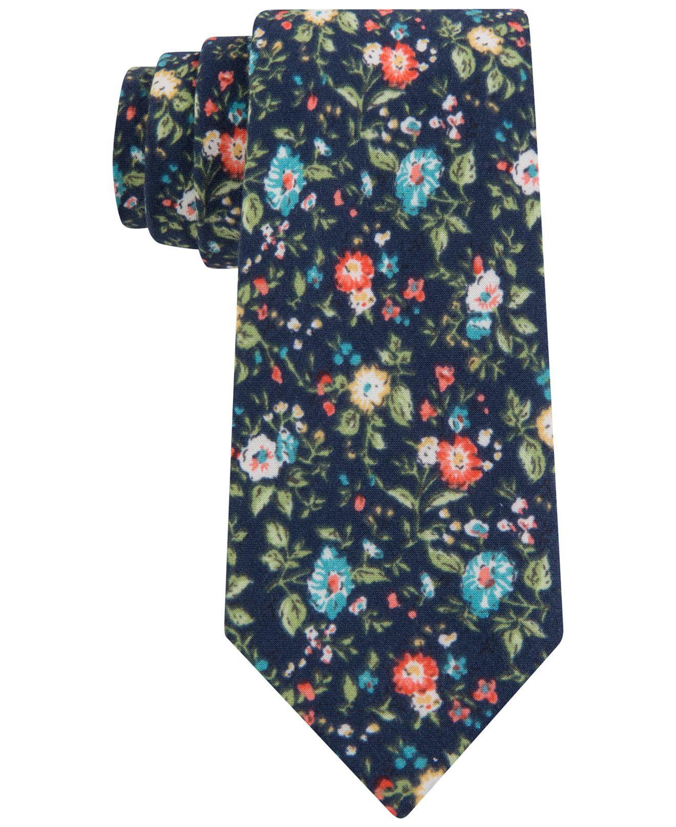 d54acdbd2bb9 Tommy Hilfiger Men's Multi-Floral-Print Skinny Tie - Ties & Pocket Squares  - Men - Macy's