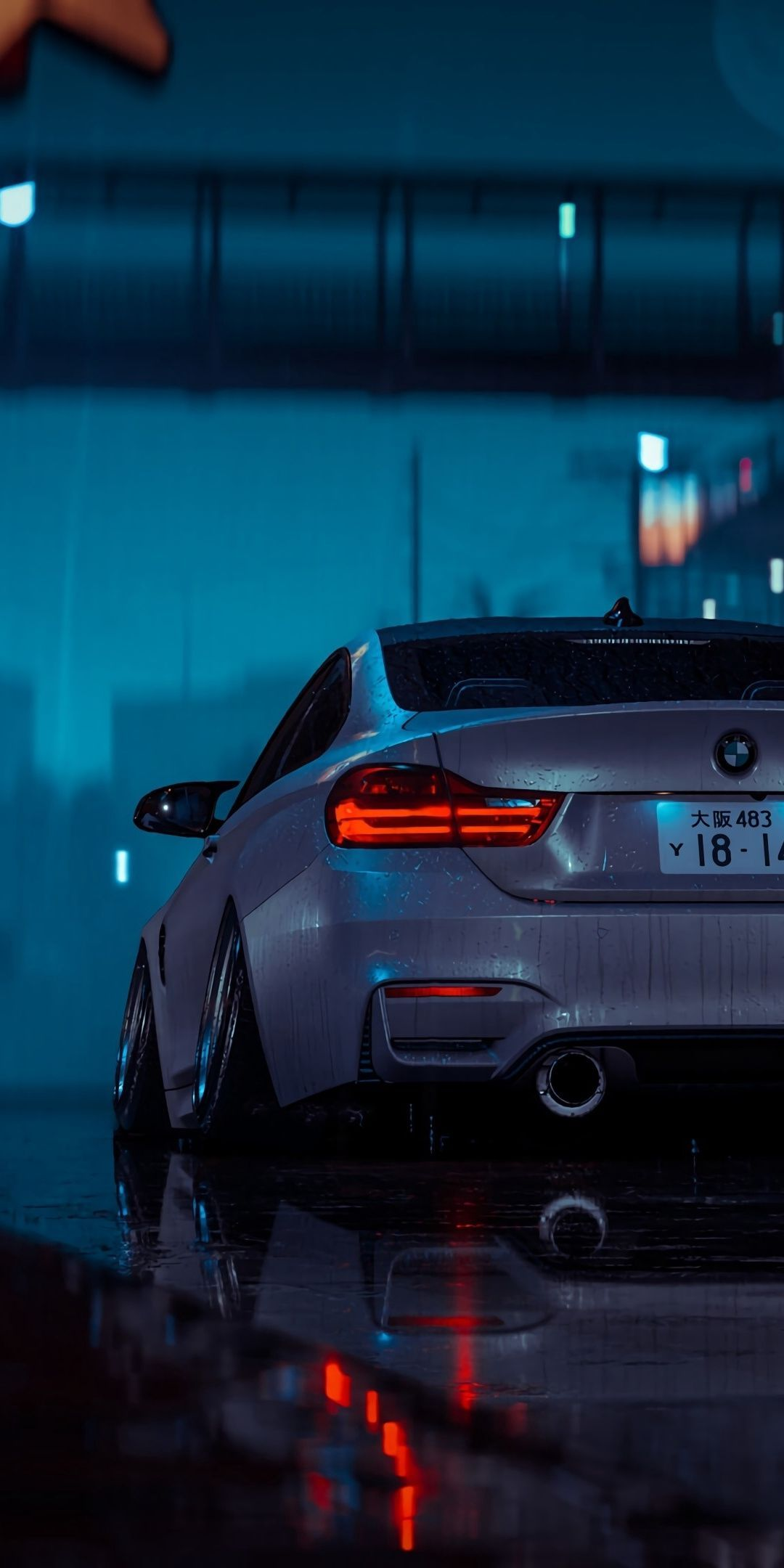 1080x2160 Artwork Car Gray Wet Weather Night Wallpaper In 2020 Bmw Wallpapers Dream Cars Bmw Bmw M4