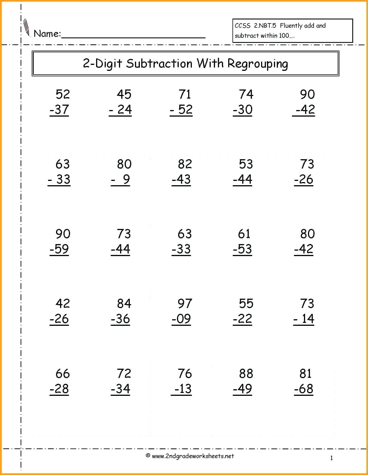 4 Free Math Worksheets Third Grade 3 Addition Adding 2 Digit Plus 1 Digit Secon Math Fact Worksheets Subtraction Worksheets Addition And Subtraction Worksheets