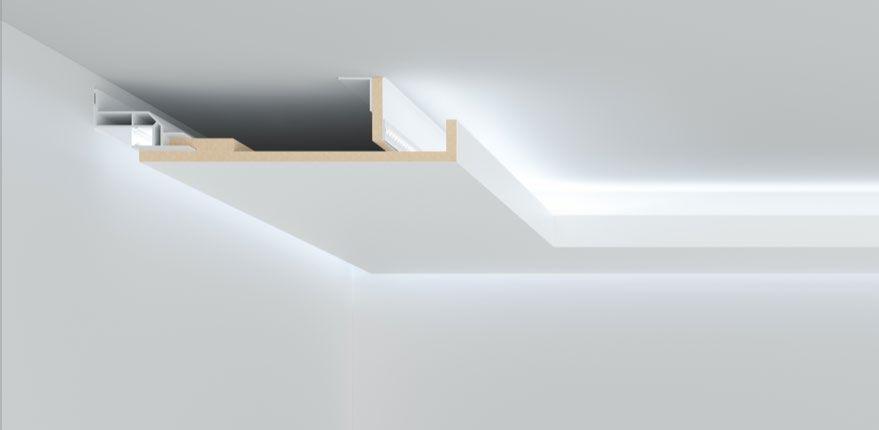 Schattenfugenprofil Fur Lichtvouten Kunststoff Abdeckung Led Abgehangte Decke Design Licht Beleuchtung Wohnzimmer Decke