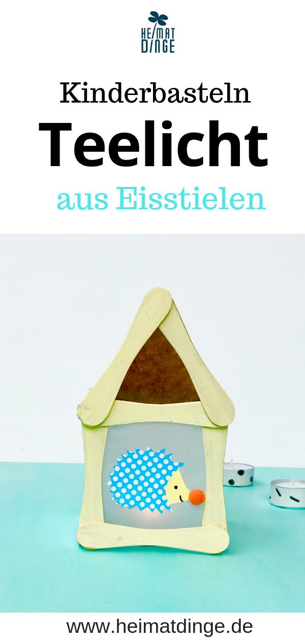 Teelicht Häuschen aus Eisstielen basteln - -   24 diy basteln holz ideas