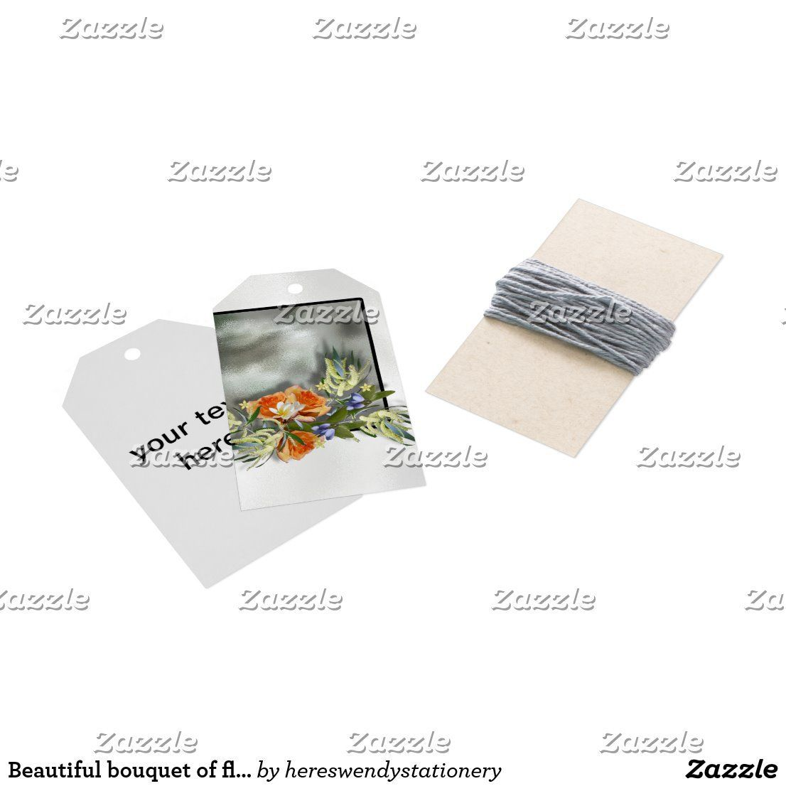 Beautiful bouquet of flowers on shiny background gift tags  aubackground
