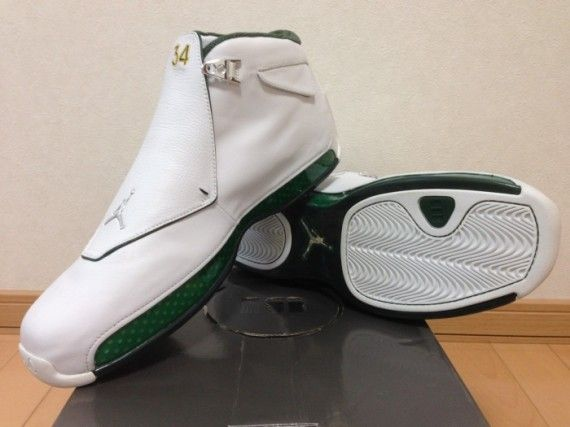 93b7c67339bb8f Air Jordan 18 - Ray Allen Sonics PE - SneakerNews.com