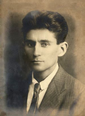 Kafka circa 1917, age approximately 33 ... He died about seven years later, in 1924, at age 40. (Photo: Christie's / Public Domain)