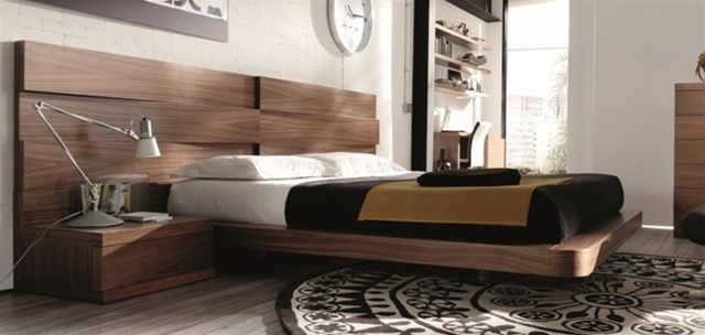 Ultra Modern Bed mh2g - beds - loop in walnut | dormitorios | pinterest | stylish