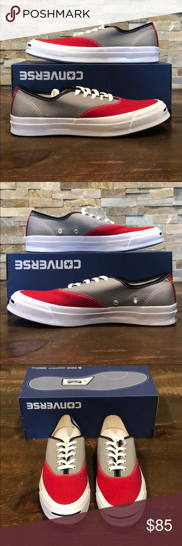f4916d98f8499e Converse Jack Purcell low Crimson Dolphin Converse Jack Purcell Low Crimson Dolphin  Men 9 - Women 10.5 151456C New With Box No Lid On Box Shipped Double ...