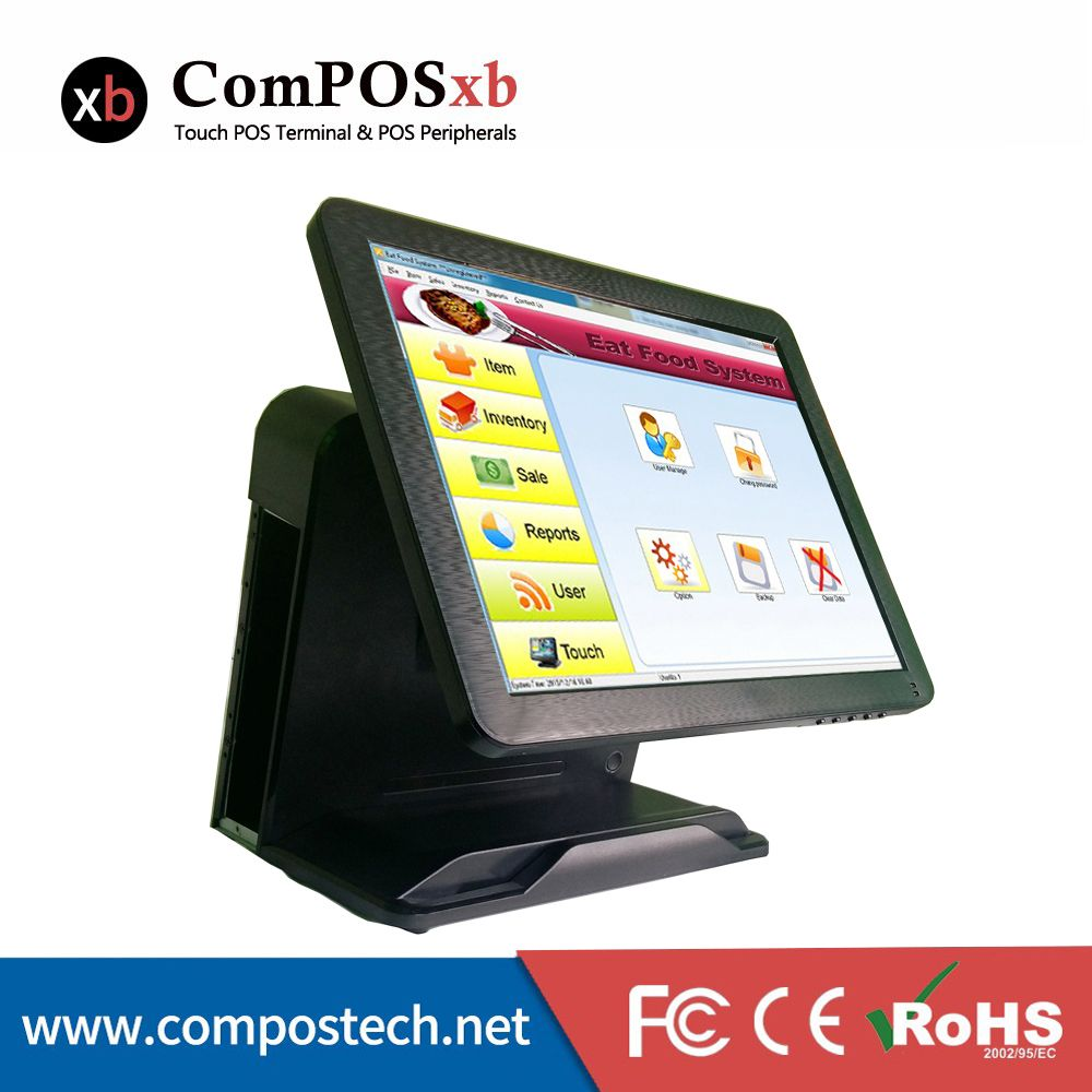 Pos Manufacturer 15 Inch Lcd Touch Screen Restaurant Touch Screen Pos System Cashier Register Point Of Sale Pos System