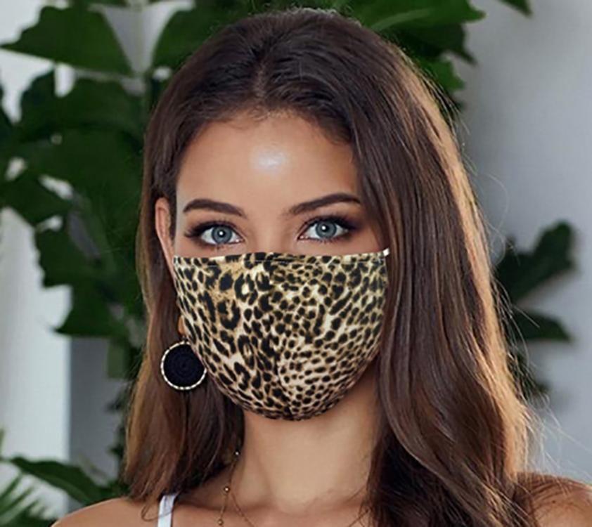 Set of 5 Cheetah Print Face Mask Bulk