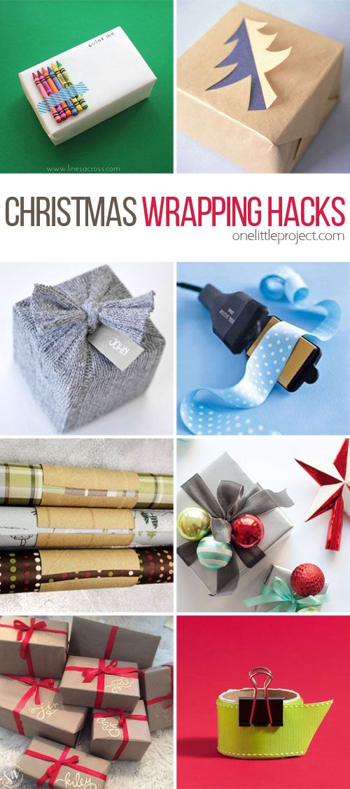 This list of Christmas wrapping hacks is AWESOME! So many beautiful ideas and lots of great tips to help make the whole wrapping process easier and more organized!