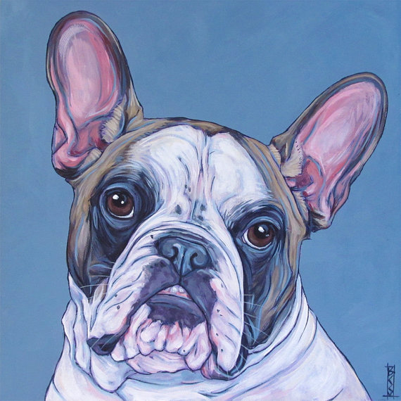Custom Pet Portrait Painting On Canvas Square Etsy Custom Pet Portraits Pet Portraits Pet Portrait Paintings