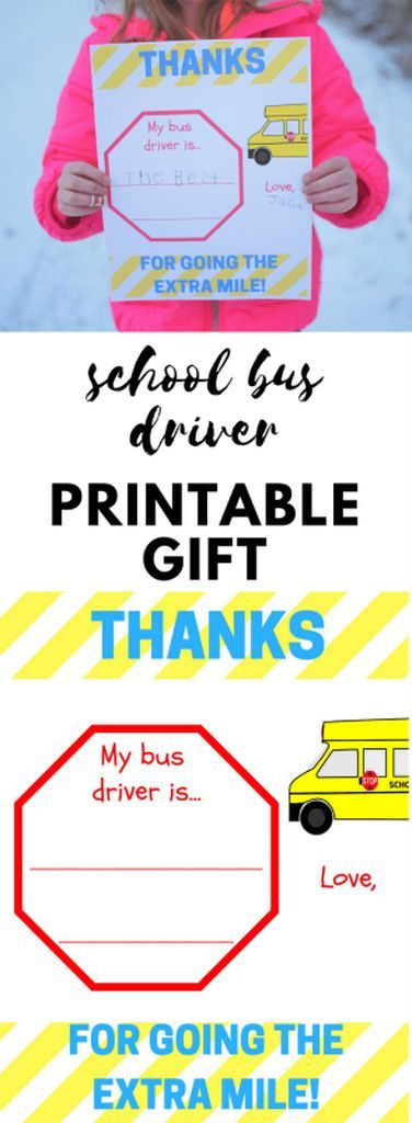 picture regarding Thanks for Going the Extra Mile Printable named Bus Driver Appreciation Printable - Owing for Transferring the