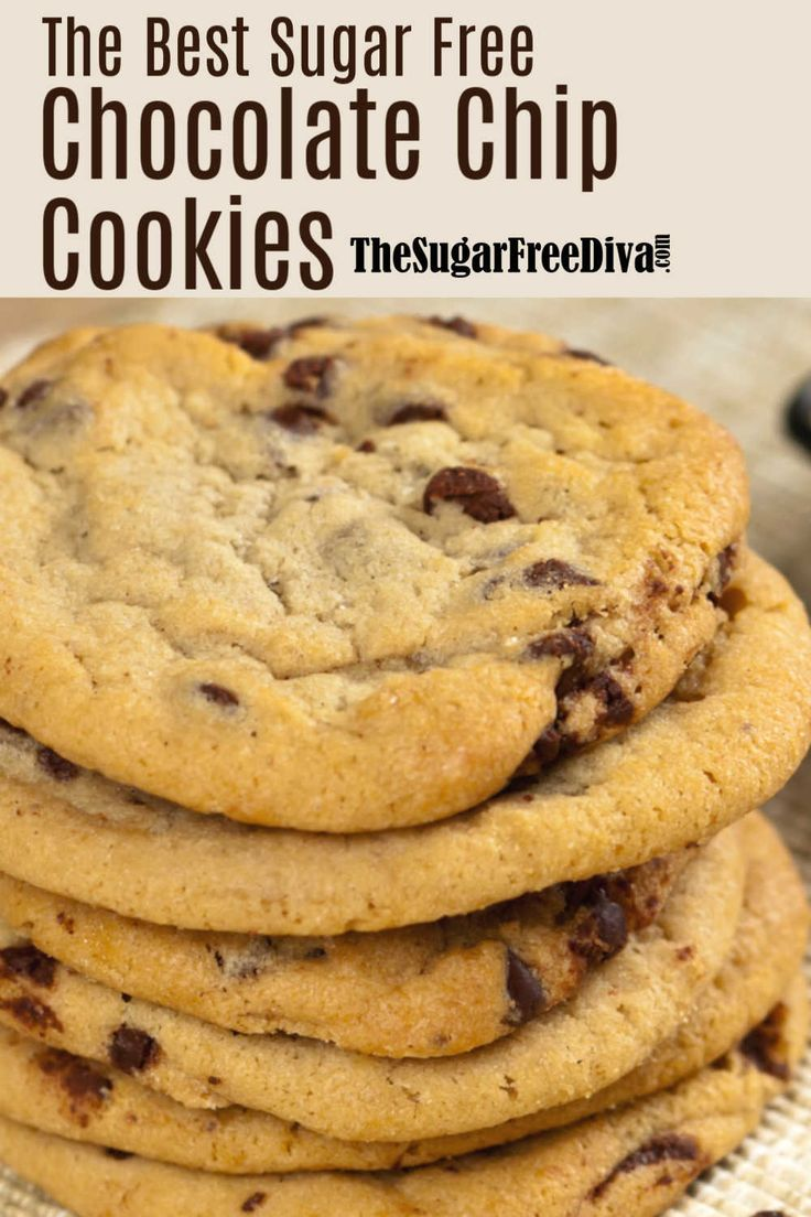 The Best Sugar Free Chocolate Chip Cookies Recipe
