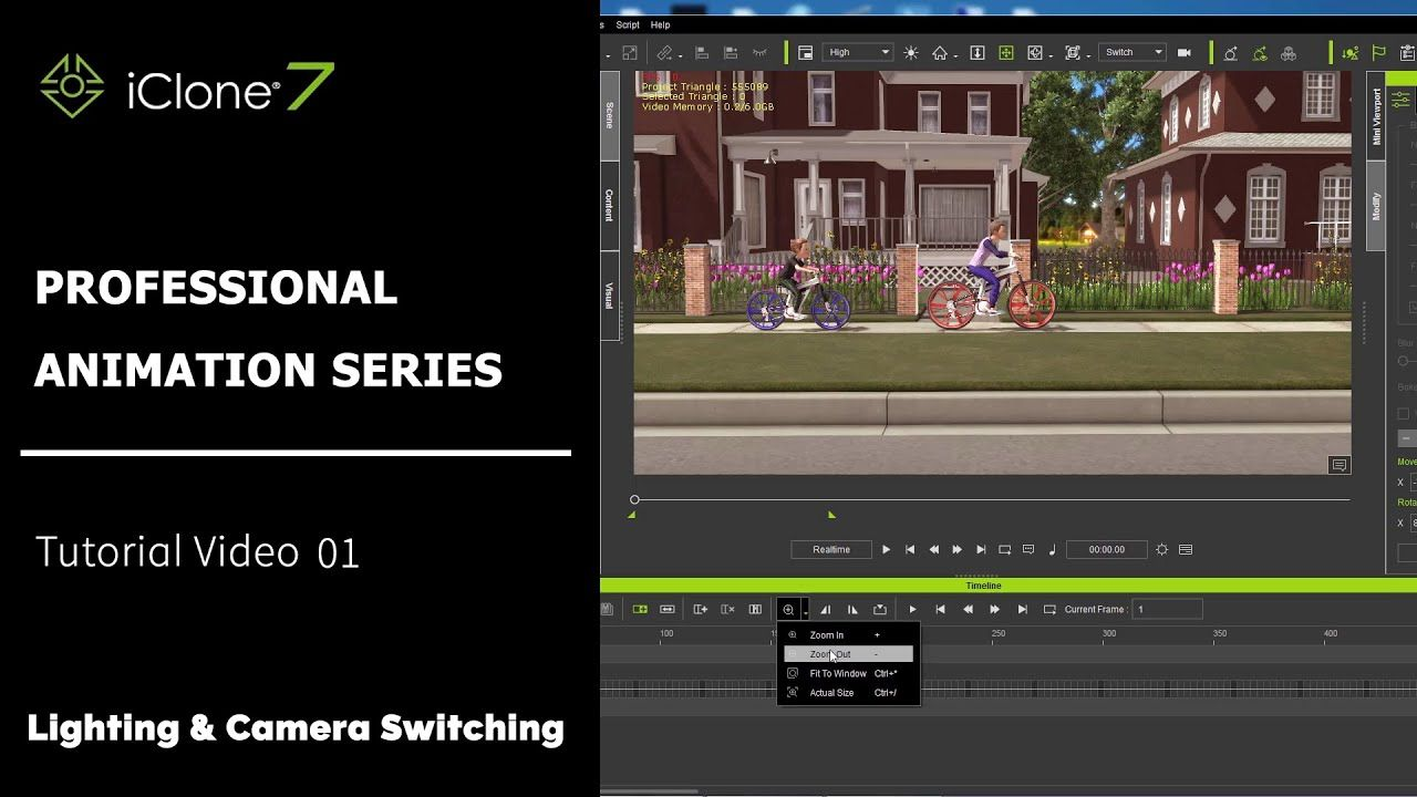 iClone 7 3D Animation Tutorial 01 Professional Animation
