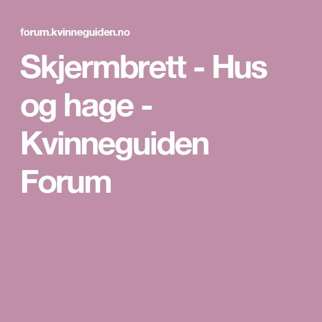 Skjermbrett - Hus og hage - Kvinneguiden Forum | Sy/håndtverksidéer ...